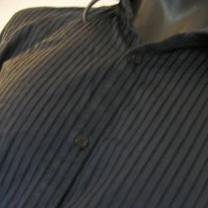CALVIN KLEIN Men's Blue Pinstripe Dress Shirt XL